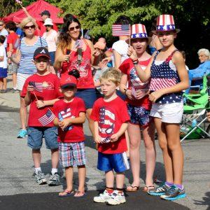 Watching the 2014 Dunwoody Independence Day parade,  Photo:  Jon Richards