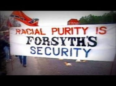 Protesters in Forsyth County, GA