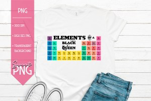 Elements of a Black Queen Mockup