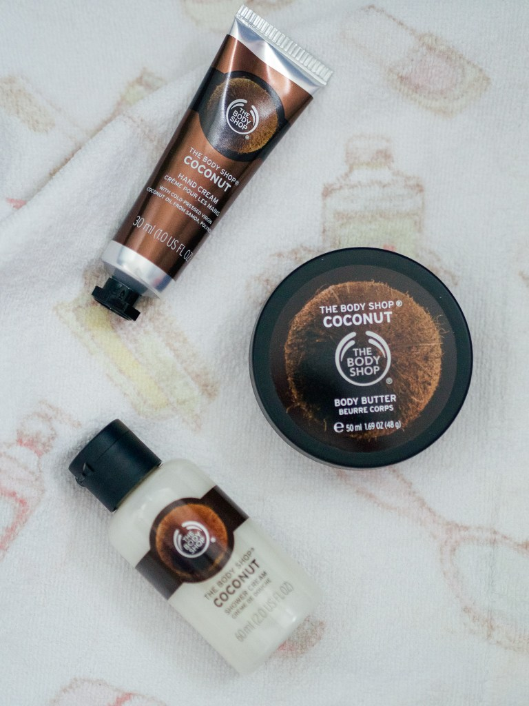 coconut treats gift set the body shop