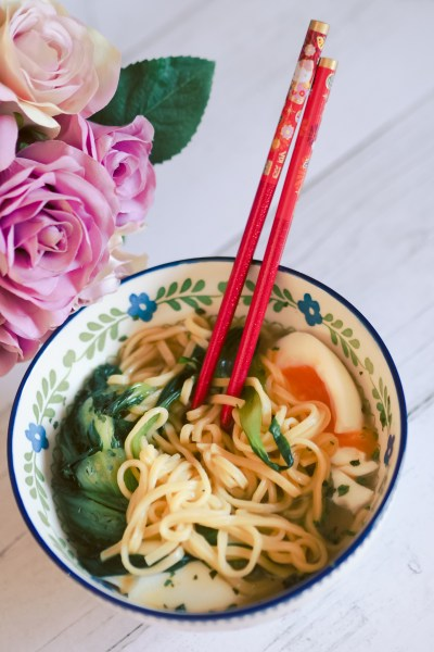 veggie broth noodle soup for gerd and gastroparesis