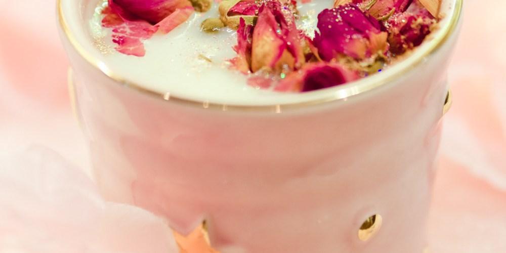 How To Make Rose Moon Milk [Vegan, Gluten-Free, Caffeine-Free, Dairy-Free, and Herbal]