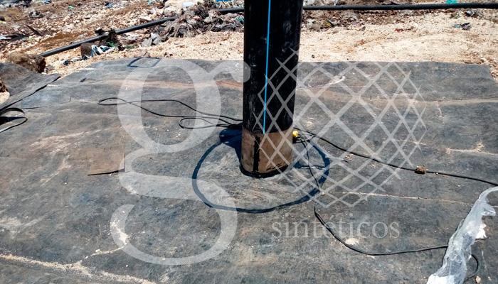 geosintéticos México - Recubrimiento de pozos de venteo en Mérida