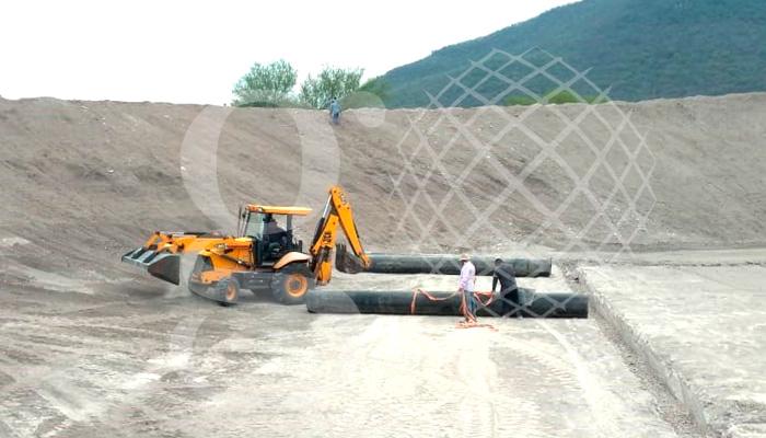 Nueva obra en Michoacán, relleno sanitario de 9000 m2, #geotextil y #HDPE 1mm