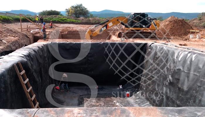 Ollas de material HDPE de 1.5 mm de 838 m2, ubicadas en Santa Rosa Jauregui, Querétaro.