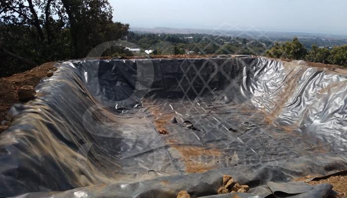 #ollas de captación de agua para riego con geomembrana #HDPE 1mm
