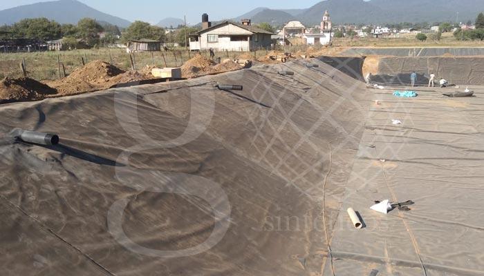 Obra terminada de #reservorios de agua para la #crianza de peces en Jalisco