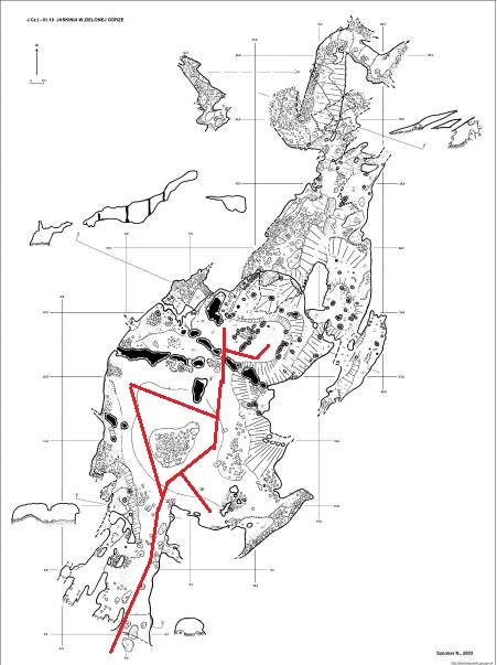 Jaskinia w Zielonej Górze mapa