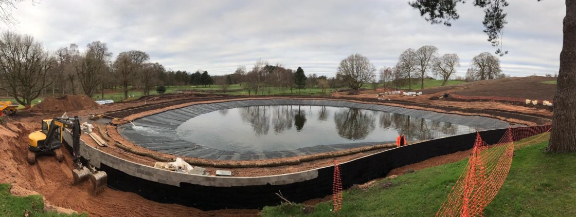 Large Lake Liners Installation