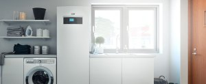 quanto consuma una pompa di calore modulo interno pompa di calore aria acqua IVT AirX airmodule installata in cucina