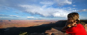 canyonlands sole guarda tramonto e pensa a pompe di calore geotermiche