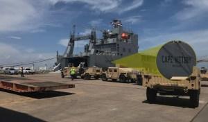 Amerikaanse leger mobiliseert militaire voertuigen