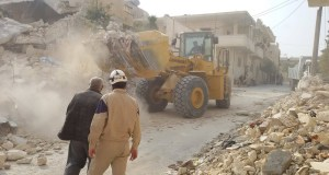 Rusland stuurt bouwmateriaal en machines voor wederopbouw Syrië