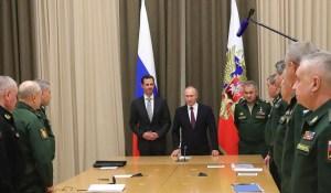 Assad bedankt Poetin voor hulp in Syrië