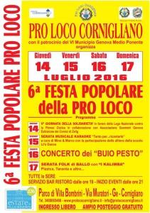 festa popolare Cornigliano luglio 2016