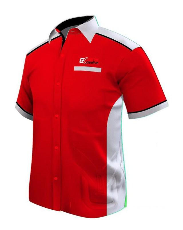 baju seragam kerja merah