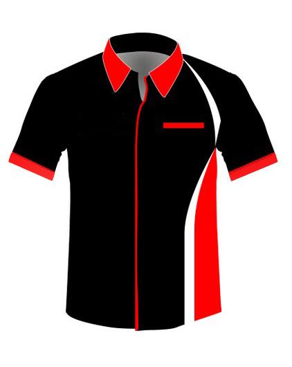 desain kemeja hitam