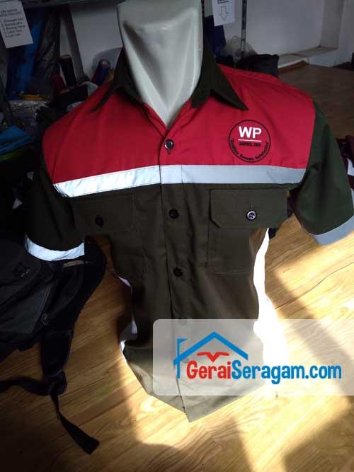 baju seragam kerja WP depan