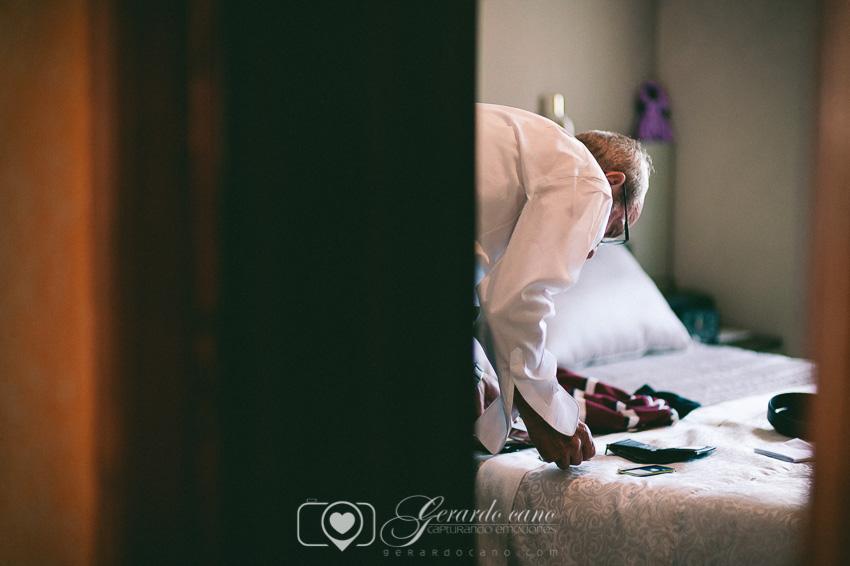 Fotos de boda León - Preparativos del padrino en León