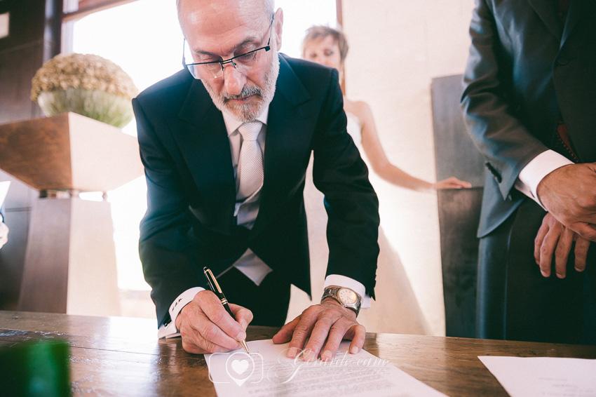 Firmas en la boda en el Cigarral de Cembranos
