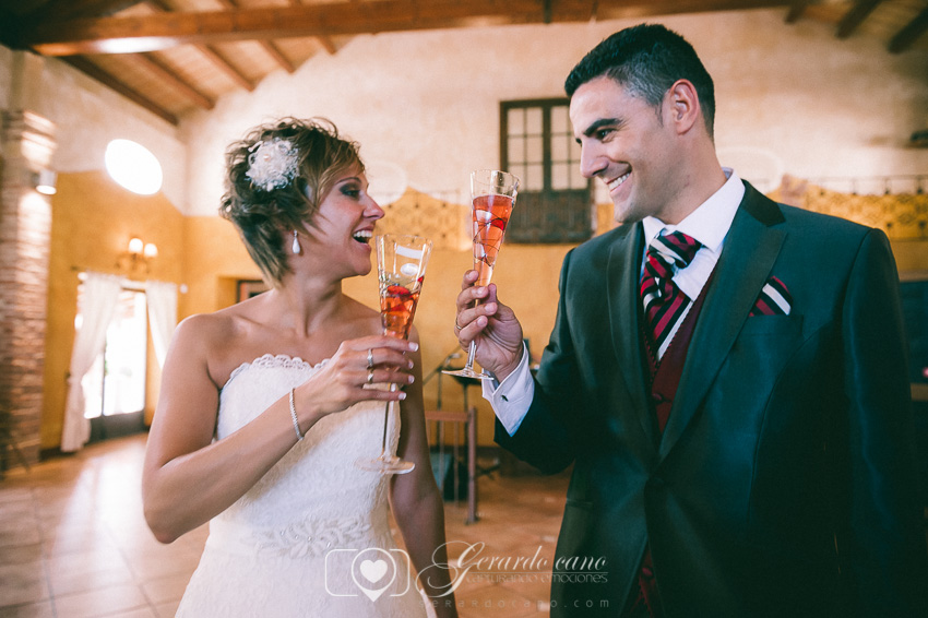 Brindis en Cigarral de Cembranos en León - Fotos boda