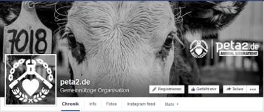 PeTA2 Logo, auf Facebook Screenshot: https://www.facebook.com/peta2germany?fref=ts