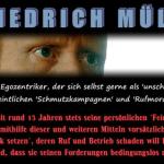 Update: Zur Ankündigungen von Friedrich Mülln, die Familien von MPI Mitarbeitern zu bedrohen
