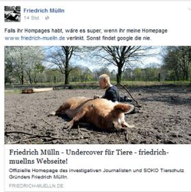 Screenshot Friedrich Müll Facebook Seite 28.09.2015