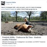 Friedrich Mülln bettelt um Links für seine Webseite