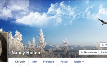 Screenshot Facebook Seite Nancy Holten