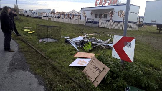 Circus Belly Urteil - Überbleibsel des PeTA Pavillon / Foto: PeTA/Presse