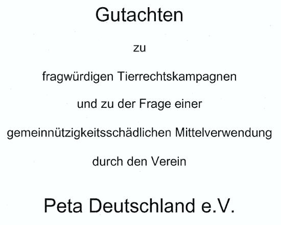 Erstelltes Gutachten der Anwaltskanzlei Graf von Westphalen