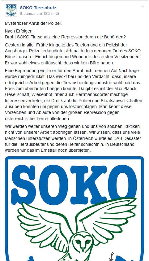 Friedrich Mülln bald im Knast??? / Screenshot Facebook Seite SOKO Tierschutz