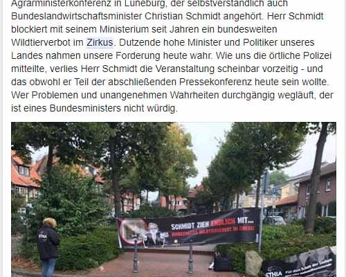 ETHIA - Dümmer geht Immer / Screenshot Facebook Ethia Zirkus