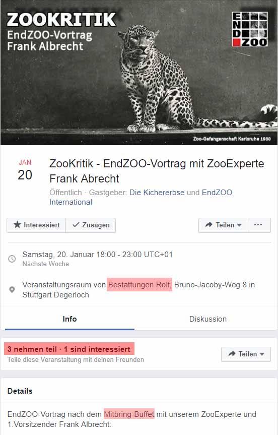 Frank Albrecht beerdigt nun doch EndZOO / Screenshot Facebook