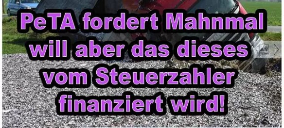 PeTA fordert Mahnmal - will es aber nicht finanzieren! / Foto: nordkurier.de