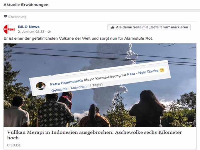 Petra Hammelrath Karma Wünsche an mich / Screenshot Facebook - Bild