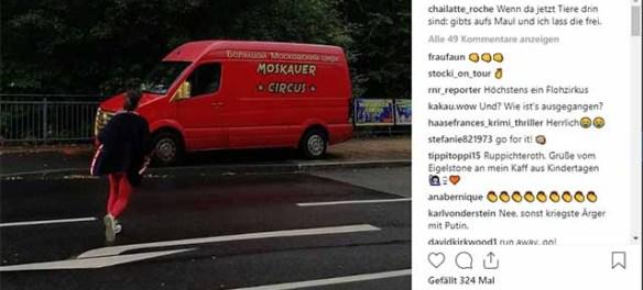 Charlotte Roche droht Zirkus aufs Maul zu hauen / Screenshot Instagram