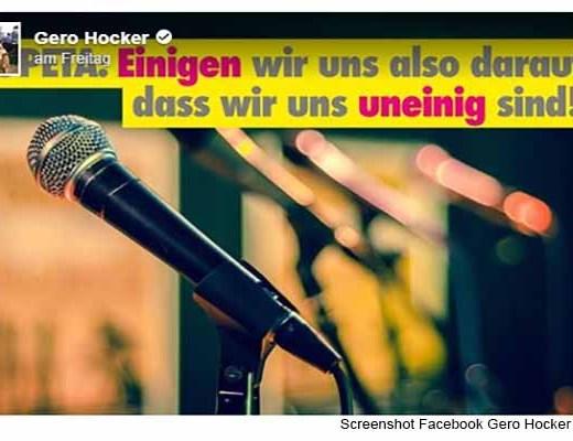 PeTA zum Dialog nicht bereit / Screenshot Facebook Gero Hocker