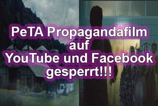 Facebook und Youtube sperren PeTA Werbevideo Fotos: Peta.de