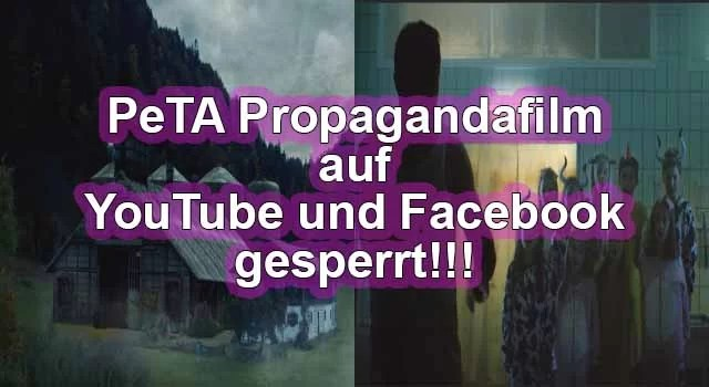 Facebook und Youtube sperren PeTA Werbevideo Fotos: Peta.de