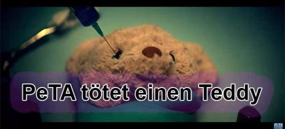 Warnung an alle Kinder!!! PeTA tötet Eure Plüschtiere / Screenshot PeTA YouTube Video