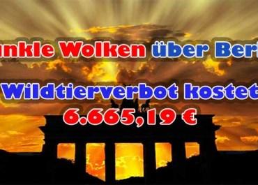 Kommunales Wildtierverbot kostet Berlin 6.665,19 Euro