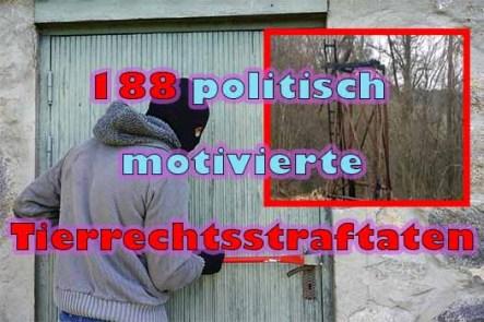 Steigende Zahlen politisch motivierter Tierrechtsstraftaten
