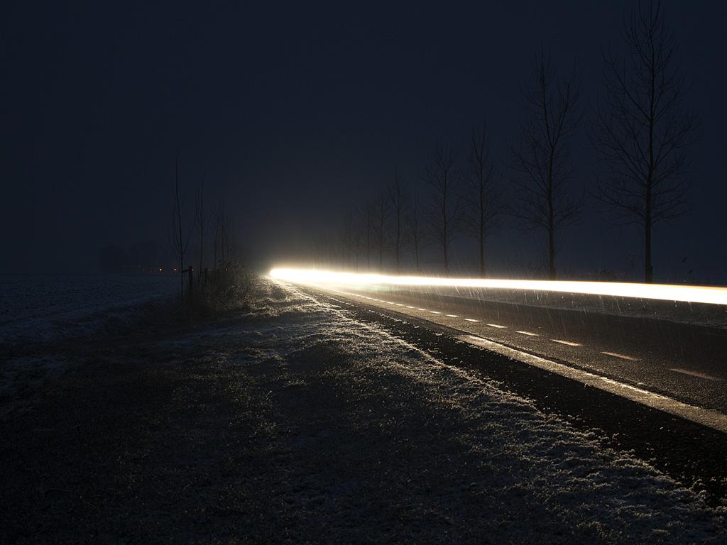 Headlight and Snow