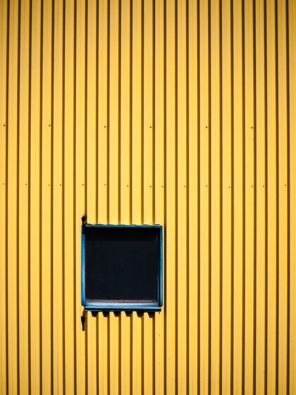 Window in Yellow Wall #1