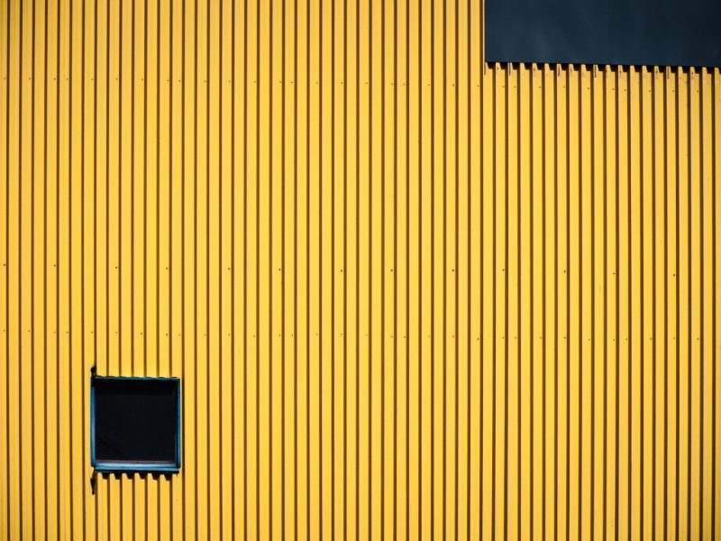 Window in Yellow Wall #2