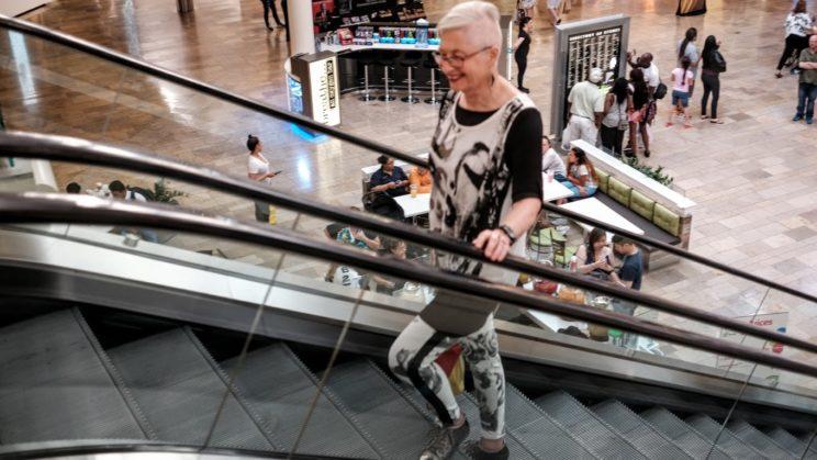 Gerda in the mall