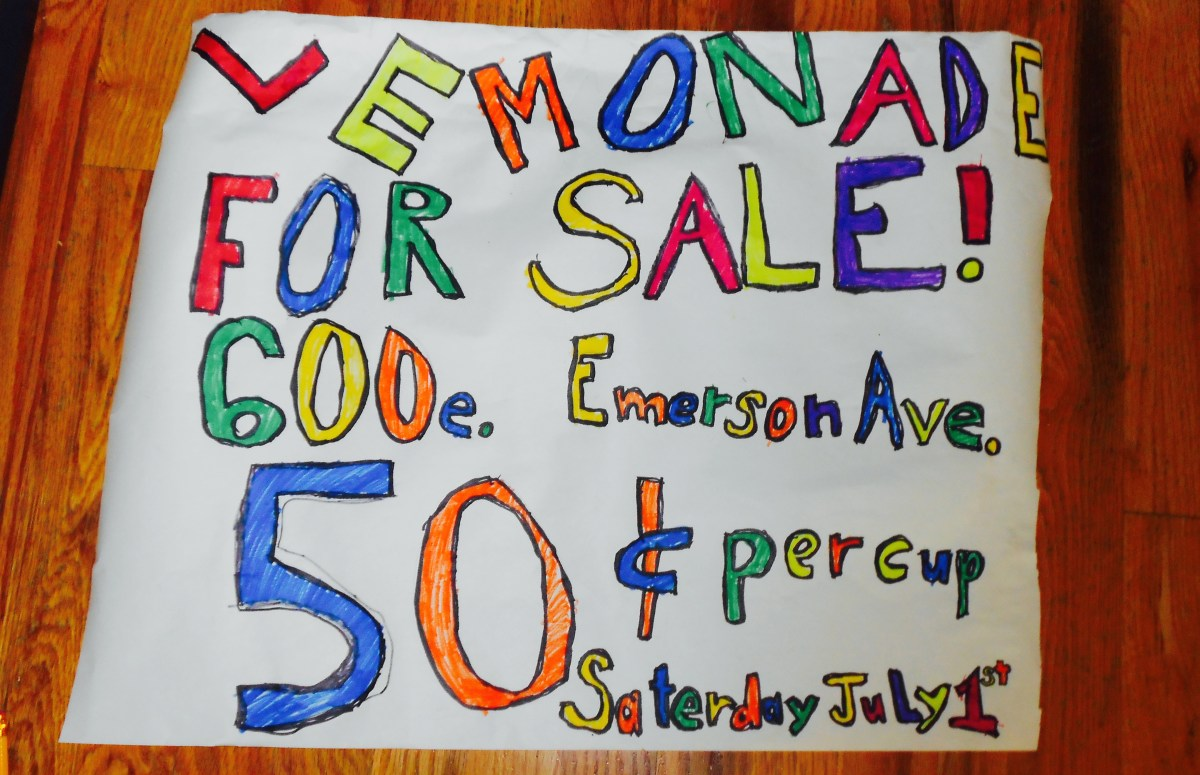 Support America's small businesses: my grandson Kanye's lemonade stand is open Saturday June 1, 2017,11 am-1 pm