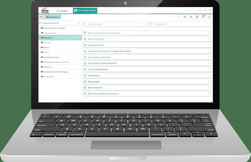 laptop connecté au coffre-fort numérique gratuit gerermesaffaires.com